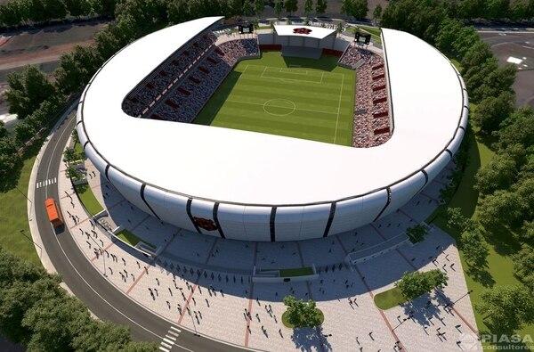 La nueva casa del León sería más que un estadio con todo un centro comercial en su interior explicaron en Alajuelense. Foto: LDA.