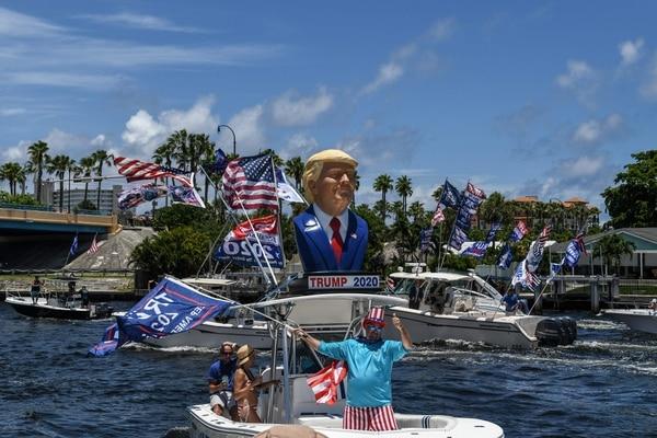 Muchos hispanos conservadores de Florida dieron su apoyo al aún presidente. AFP