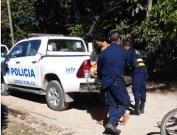 El sospechoso de apellido Canales es reconocido policialmente. Foto: Cortesía para LT