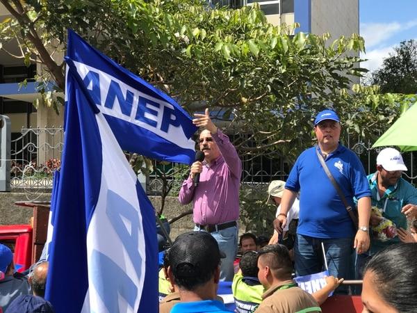 Albino Vargas, secretario General de la ANEP y demás sindicalistas estarán más protegidos con la Reforma Procesal Laboral. Foto: José Cordero