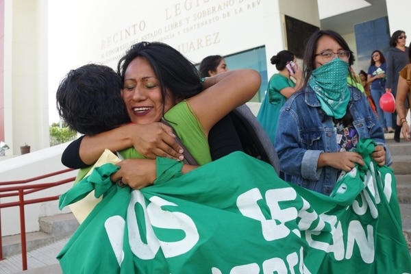 El 25 de setiembre de 2019 se despenalizó el aborto en Oaxaca, México. EL UNIVERSAL