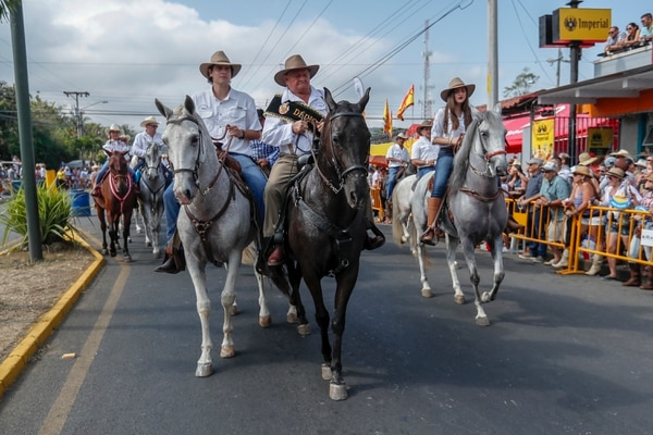 Leopoldo Rodríguez, de 85 años, fue el dedicado del tope. El palmareño se dedica a la cría de caballos de paso costarricense. Foto: Jose Cordero