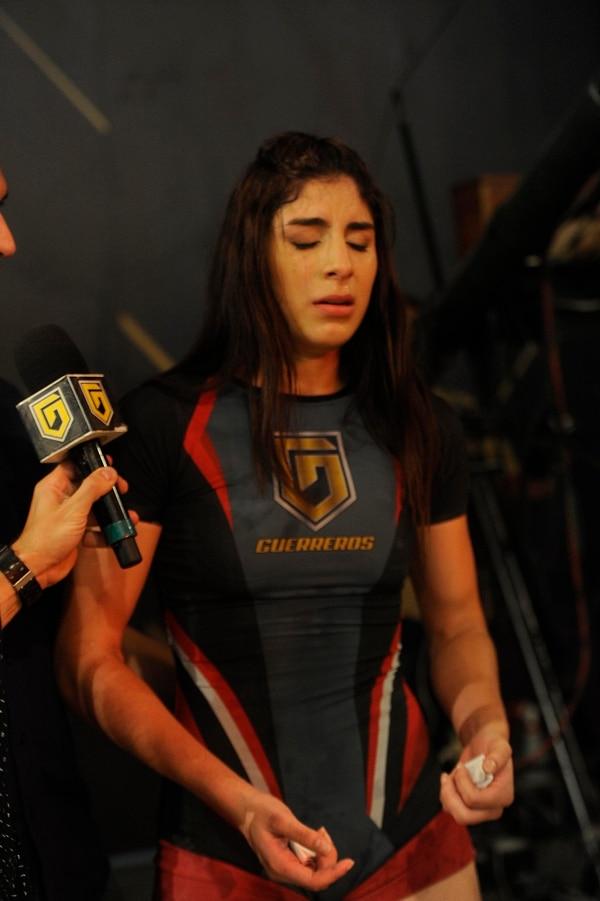 Stephanie estuvo hasta el final del programa Guerreros, que se dejó de transmitir en setiembre del año pasado por las constantes lesiones que sufrían sus participantes. Archivo