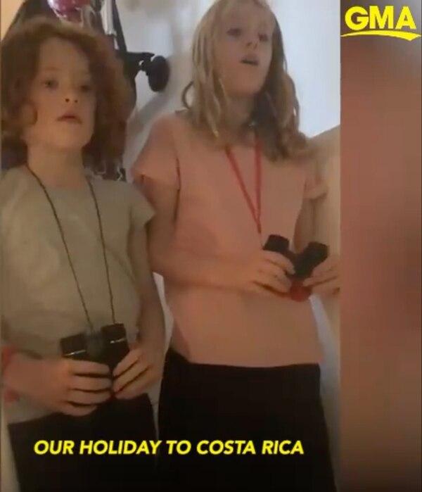 Las niñas de 7 y 8 años, realizaron una muy linda investigación de nuestro país. Captura de pantalla.