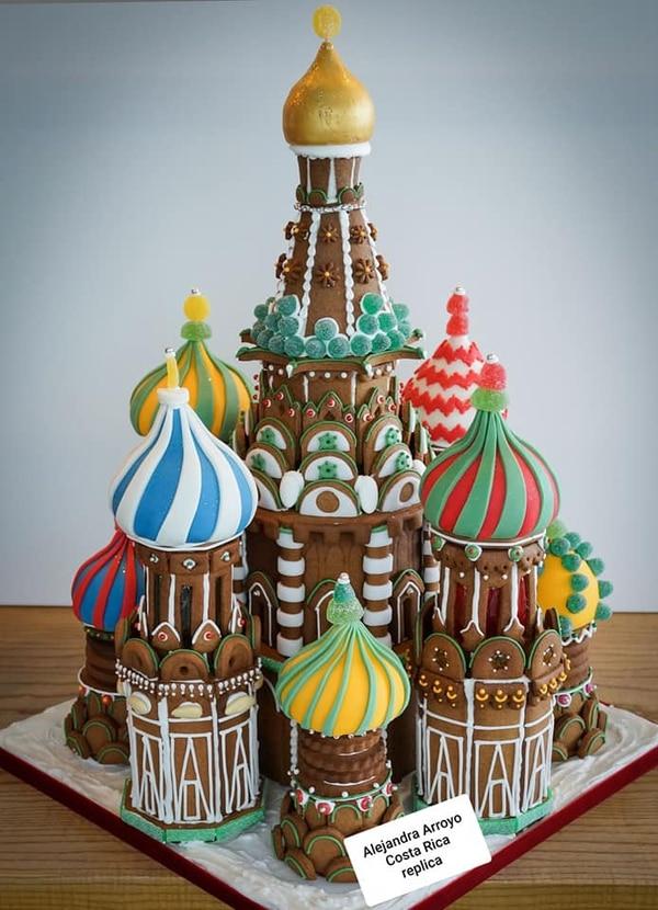 Otra réplica que encantó, de una construcción rusa que fue muy conocida en Tiquicia por la presencia en la Copa Mundo del 2018. Cortesía.