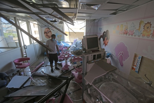 Este hospital de maternidad quedó totalmente destruido. (Photo by STR / AFP)
