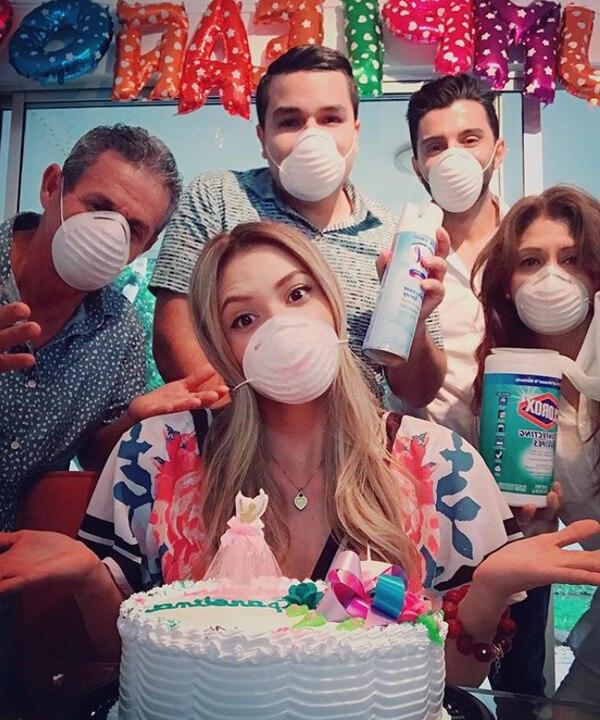 Carolina Rodríguez lo festejó de una manera muy original. Foto: Instagram.