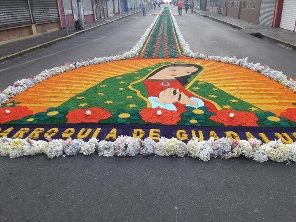 Esta fue una de las alfombras elaboradas el año anterior. Foto: Fernando Gutiérrez.