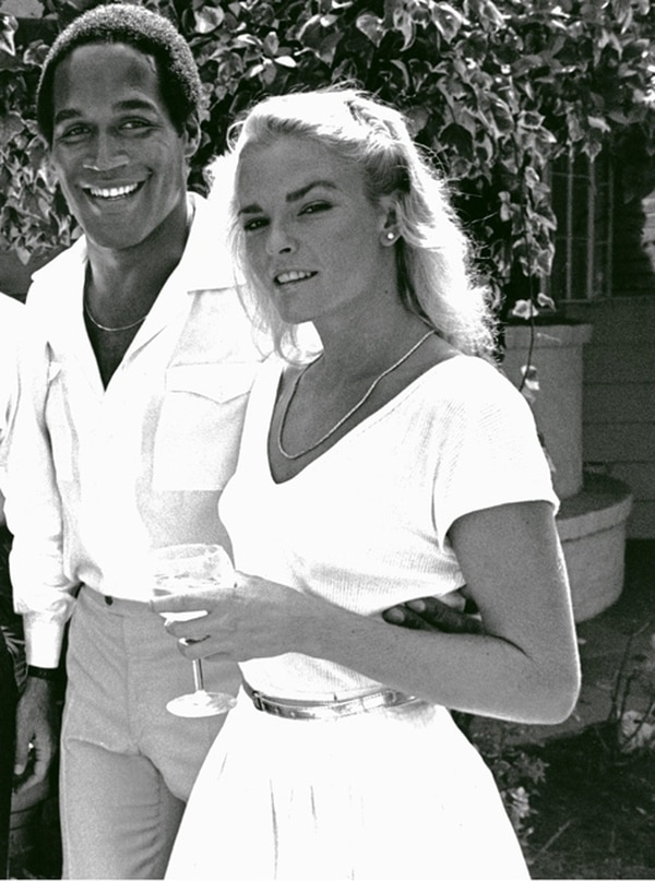 "O.J. Simpson and Nicole Brown Simpson seen here at the home of Anna & Lee Strasberg. Brentwood, Ca. July 4, 1981. © Jim Demetropoulos / Retna"" --- Image by © Jim Demetropoulos/Retna Ltd./Corbis"