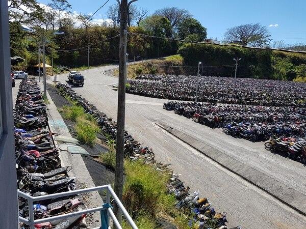 Actualmente hay unos 45.000 vehículos detenidos en los patios del Cosevi. Foto: Grupo Nación.