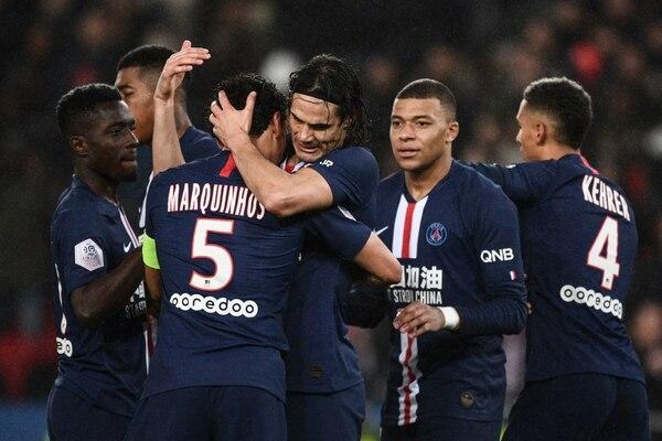 Ofensivamente este equipo del PSG es un terror. (Photo by Martin BUREAU / AFP)