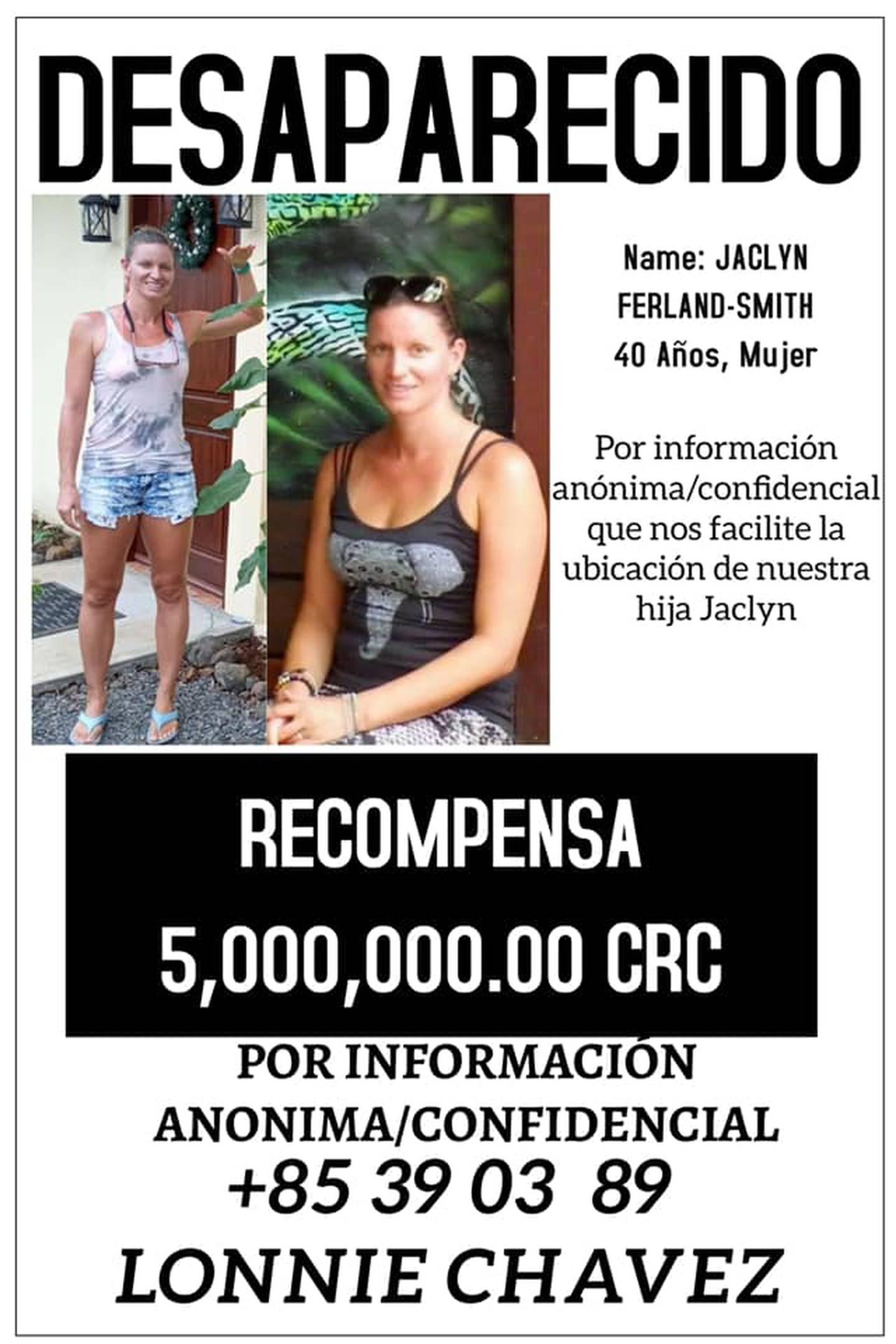 Jaclyn Smith, canadiense desaparecida en Guanacaste. Foto cortesía.