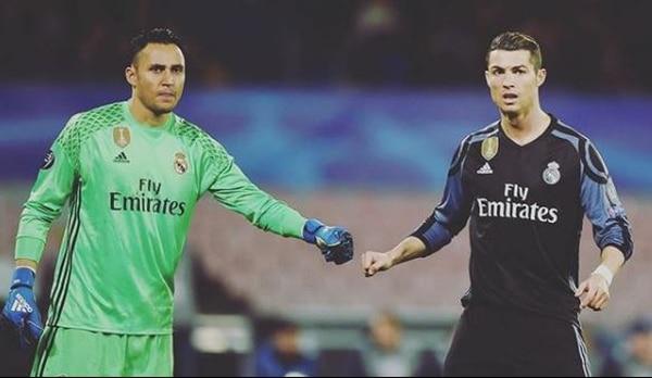 Keylor Navas y Cristiano Ronaldo. Foto: Instagram