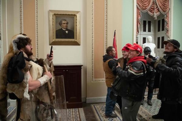 A los manifestantes no les importaba si les tomaban fotos. Saúl Loeb / AFP