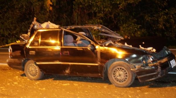De acuerdo con la policía de tránsito al conductor le hicieron la alcoholemia y dio positiva. Foto: Suministrada por Alfonso Quesada