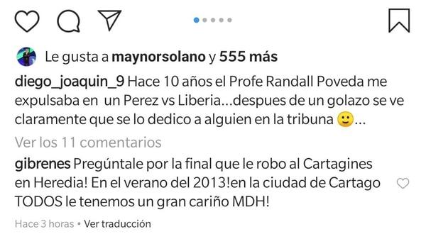 Estos comentarios terminarán en los tribunales. Foto: Instagram