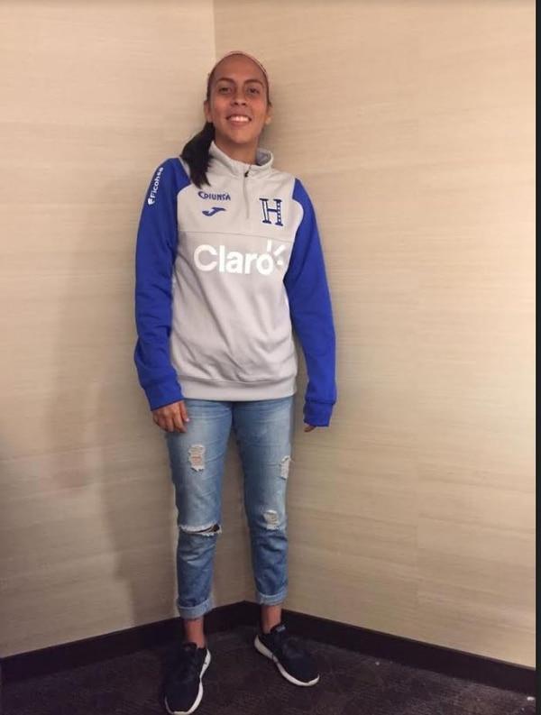 Diosara ha jugado con la Sele sub-17 de Honduras. Cortesía Rafa Soto
