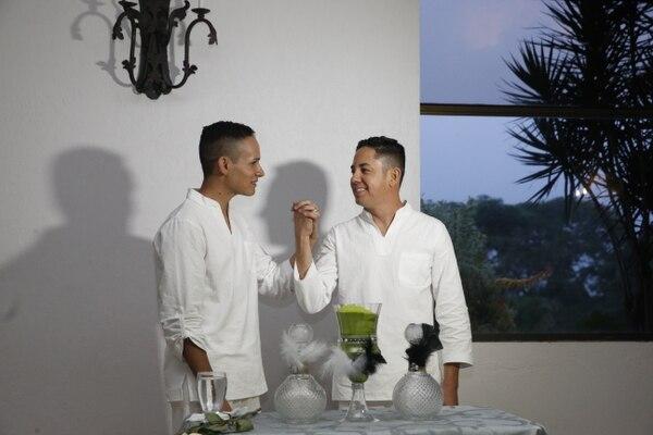 Benjamín y Kenneth se unieron de forma simbólica en junio del 2017. Foto Adrián Soto.