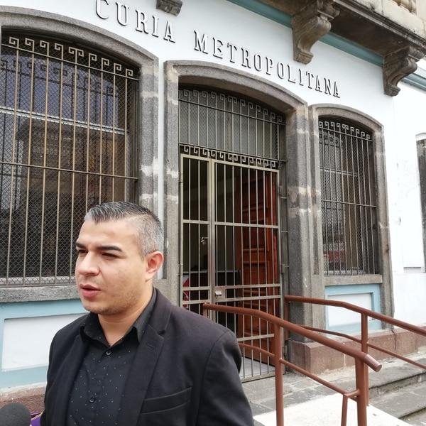 Jeison Granados, vocero de la Curia Metropolitana y director de Radio Fides atendió a los medios.