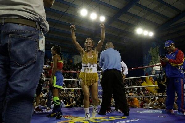 El año pasado la deportista también llevó el nombre de Eva. Fotografía José Cordero