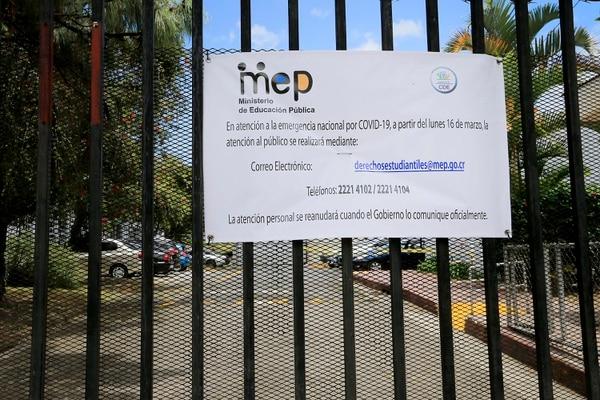 Escuela Ricardo Jiménez Oreamuno. El coronavirus mandó a los chiquitos para la casa. Foto: Rafael Pacheco
