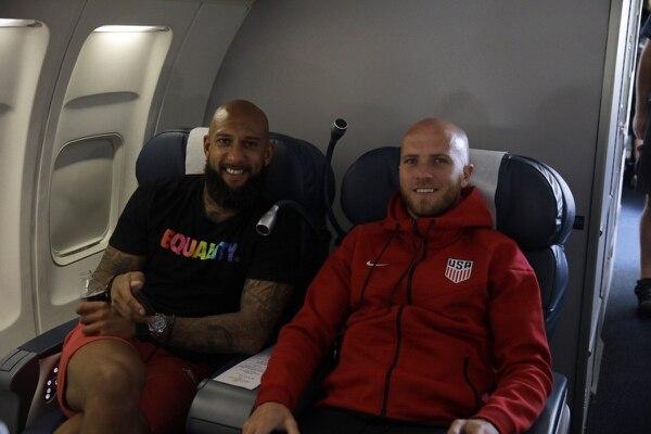 Tim Howard y Michael Bradley llegaron a Philadelphia para los Cuartos de Final de Copa Oro. Foto Ussocerhome.com