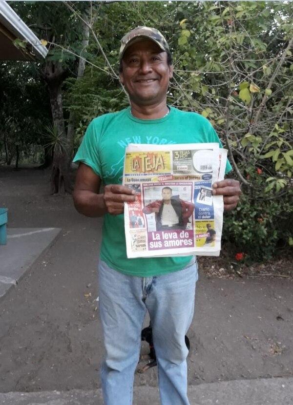 Don José estaba feliz de la vida por ganarse el premio. Foto: Cortesía.