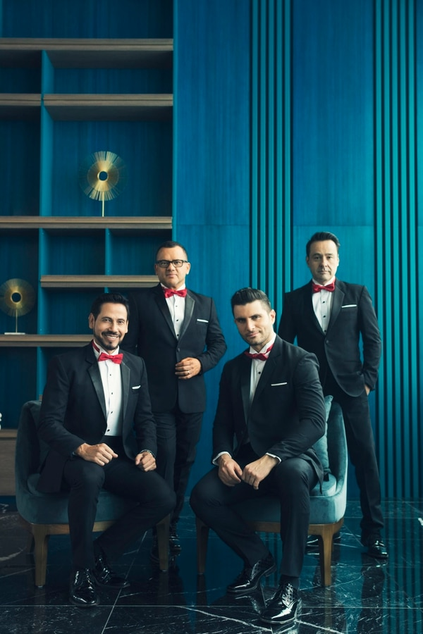 Ricardo Bernal , Arnoldo Castillo, Rodolfo González y Joaquín Yglesias forman los Tenores desde el 2016. Foto: Tatiana Marín