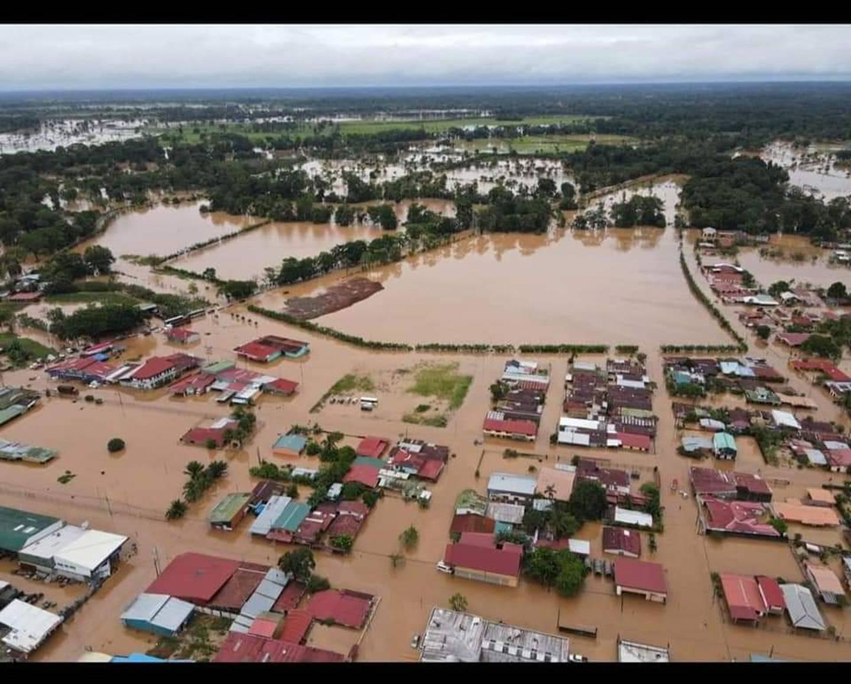 Inundaciones en la zona norte del país. Foto cortesía.