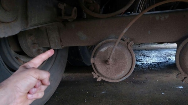 La droga iba en los ejes traseros del camión. Foto: MSP