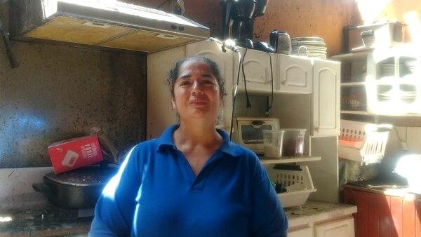 Luz Aguilar Barahona ha sufrido por culpa de las llamas dos veces. Foto: Alejandra Portuguez Morales