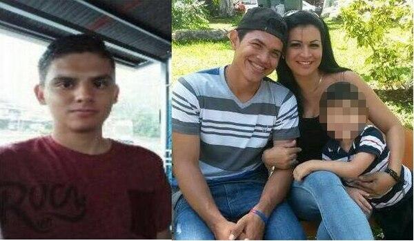 Los fallecidos son Jason Mora, Marco Peraza, Norma Cristina Molina, y el pequeño Jeshua (izquierda a derecha). Foto: Cortesía familia.