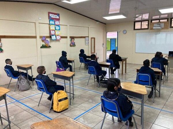 Un máximo de 12 estudiantes por aula fue el permitido en la escuela de La Pitahaya. Foto: Karen Fernández