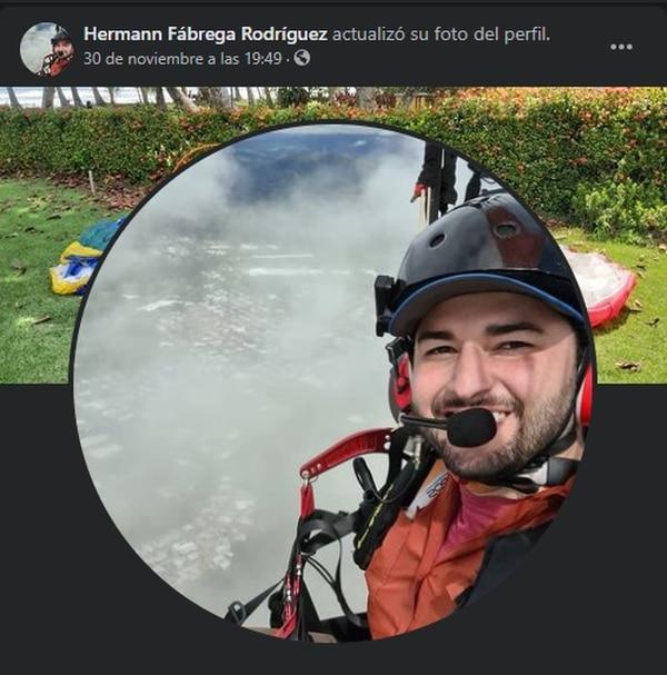 El joven tenía mucha experiencia con el paramotor. Foto tomada de Facebook.