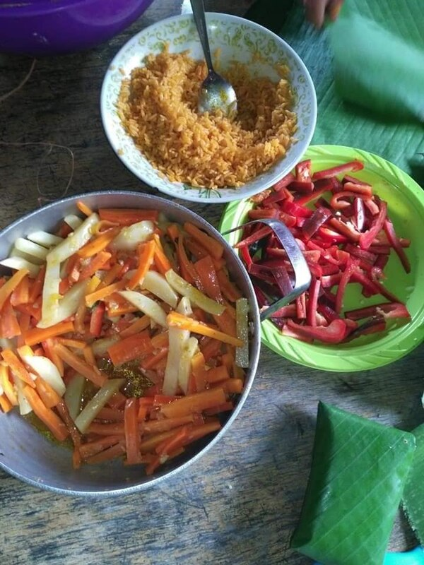 Estos son los ingredientes que lleva por dentro el tamal. Foto cortesía