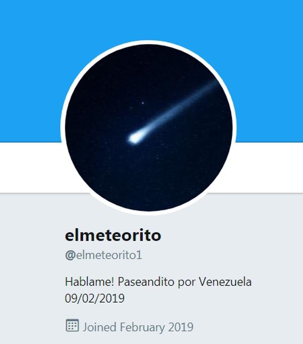 La cuenta @elmeteorito1 rápidamente alcanzó más de 1.200 seguidores.