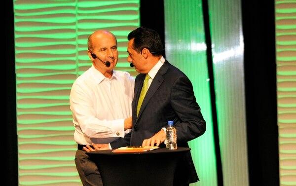 Figueres y Álvarez hicieron a un lado las diferencias y ahora caminan juntos. Foto: Rafael Murillo.
