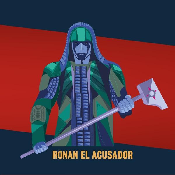 Ronan fue el villano de la primera cinta de los Guardianes de la Galaxia. Ilustración: Francela Zamora