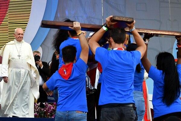 La Jornada Mundial de la Juventud más reciente fue en enero del 2019 en Panamá. AFP