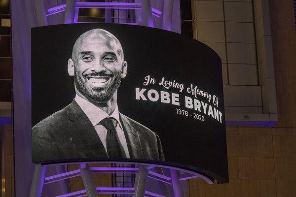 Kobe Bryant murió el domingo en un accidente de helicóptero. AFP