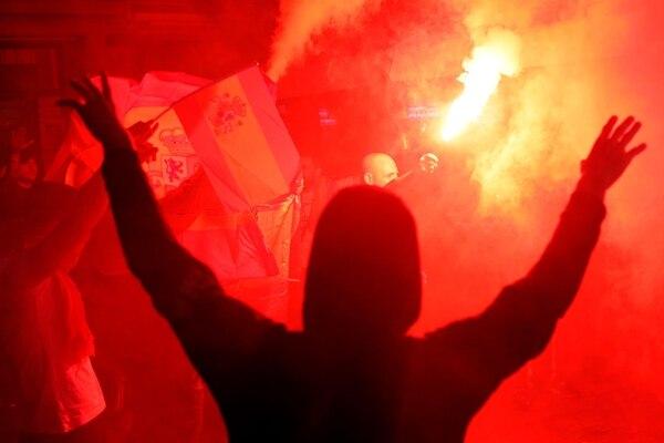 Los más violentos llaman a romper con el Estado español. AFP