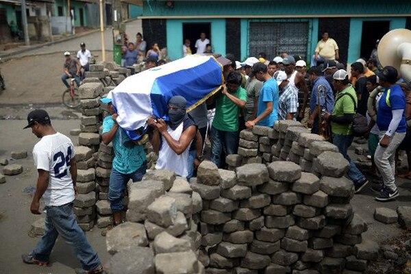 Los muertos se cuentan por centenares en Nicaragua. Foto: AFP