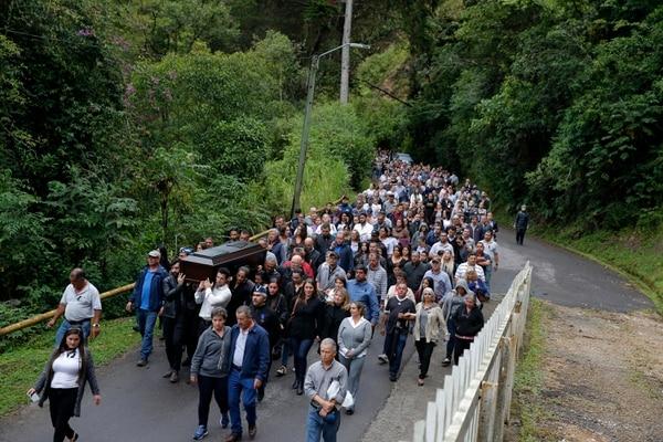 El pasado 25 de setiembre se realizó el funeral de Mariano Figueres en la finca La Lucha, que es de la familia Figueres. Foto Mayela López.