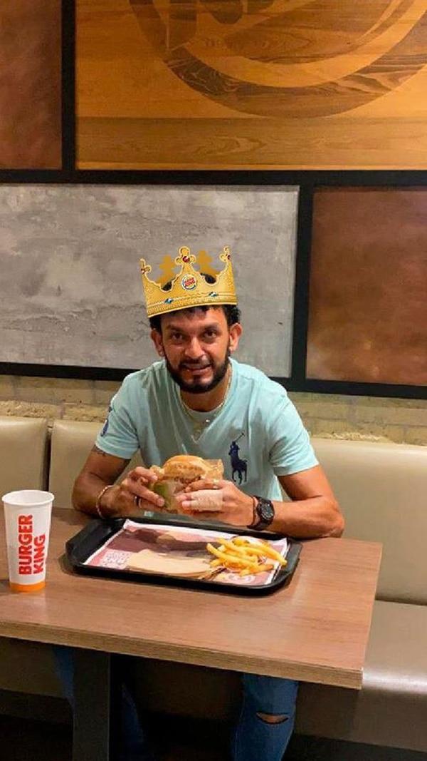 Michael comió este miércoles como un rey. Foto: Facebook