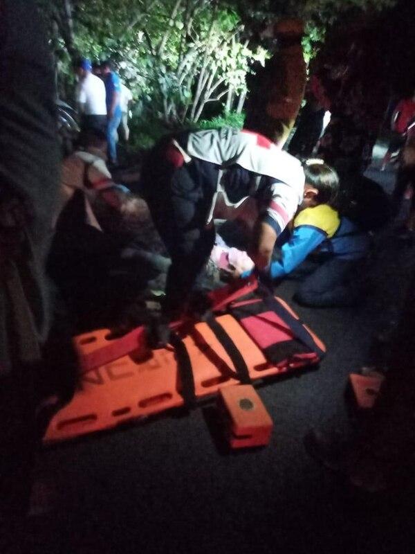 Cuatro personas sobrevivieron al choque. Foto cortesía.