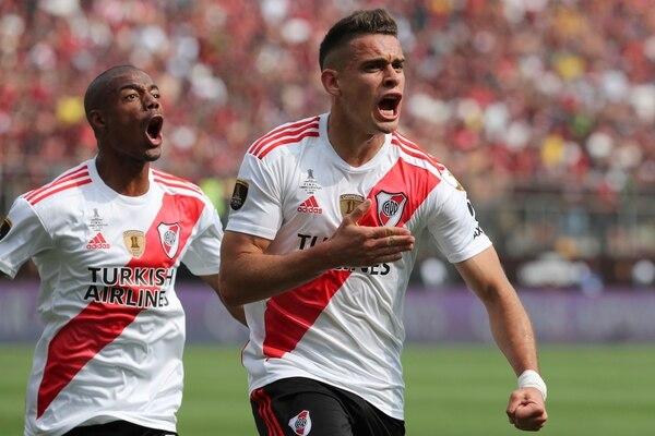 El gol del título. (AP Photo/Fernando Vergara)
