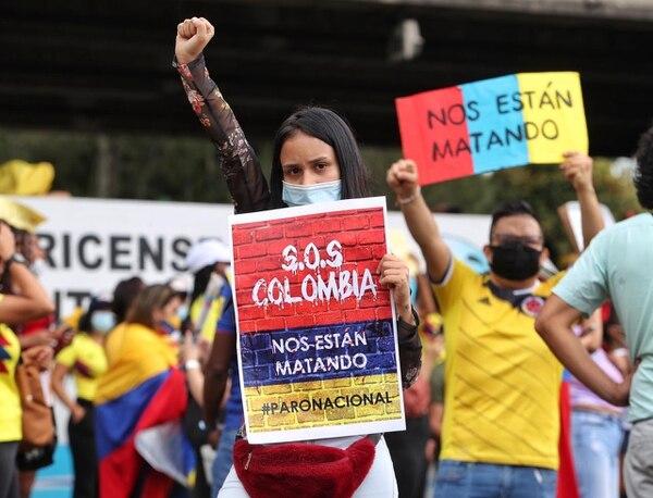 Los manifestantes piden ayuda a organismos internacionales. Foto: John Durán.