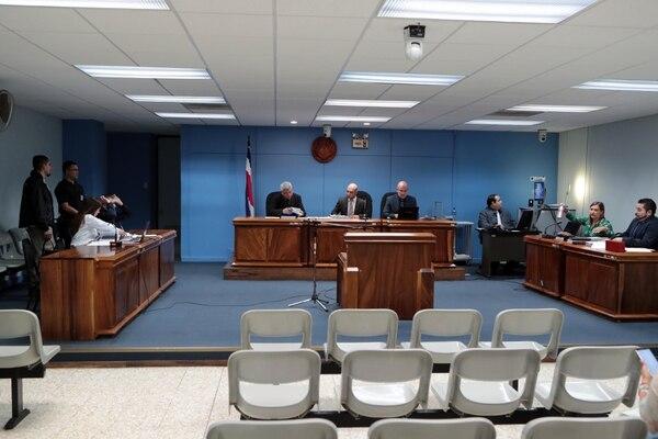 El juicio es en la sala número 2 de los Tribunales de San José. Foto: Alonso Tenorio