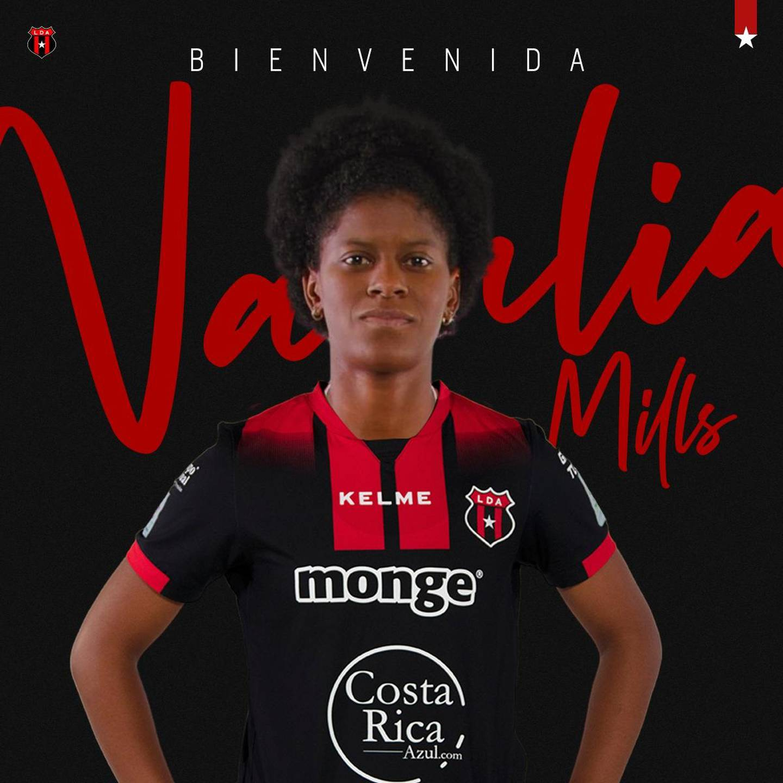 Natalia Mills. Prensa Alajuelense.