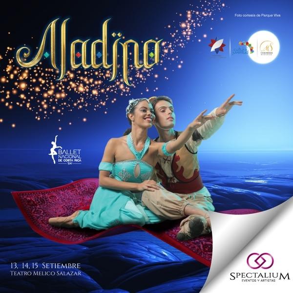 Aladino del 13 al 15 de setiembre en el Teatro Melico Salazar. Cortesía.